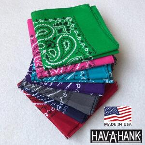 アメリカ製 HAV-A-HANK【ハバハンク】 コットン ペイズリー バンダナ メンズ レディース
