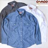 送料無料 CAMCO【カムコ】2 WORK L/S 長袖 シャンブレーシャツ ワークシャツ フラップポケット仕様 S-LL(XL) 長袖シャツ アメカジ メンズ(男性用)【smtb-m】