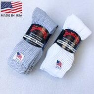 アメリカ製RAILROAD【レイルロード】3PSOCKS3足セットソックス靴下メンズ(男性用)