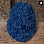 イギリス製2点購入で送料無料TRADHOUND【トラッドハウンド】インディゴニットキャップ帽子メンズレディース(男女兼用)