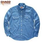 CAMCO【カムコ】長袖シャンブレーシャツワークシャツフラップポケット仕様S-LL(XL)長袖シャツメンズアメカジ【ご予約品:2012年11月下旬〜12月下旬ごろお届け】【smtb-m】