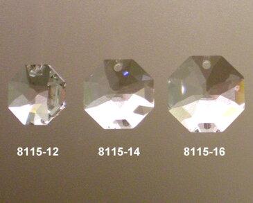 【送料無料】スワロフスキー#8115オクタゴン型一ツ穴タイプクリスタル14mmx14mm1ケース(1800入り) 【お届けは宅配便のみ対応】【納期は夏季・冬季休暇以外3〜4日】
