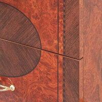 [送料無料]サルタレッリモビリフローレンス3段ナイトスタンド(三段チェスト)ウォールナット色幅54cm/タンスナイトテーブル収納ベッドサイド寝室イタリアアンティーククラシックロココ姫系ブラウンFlorence