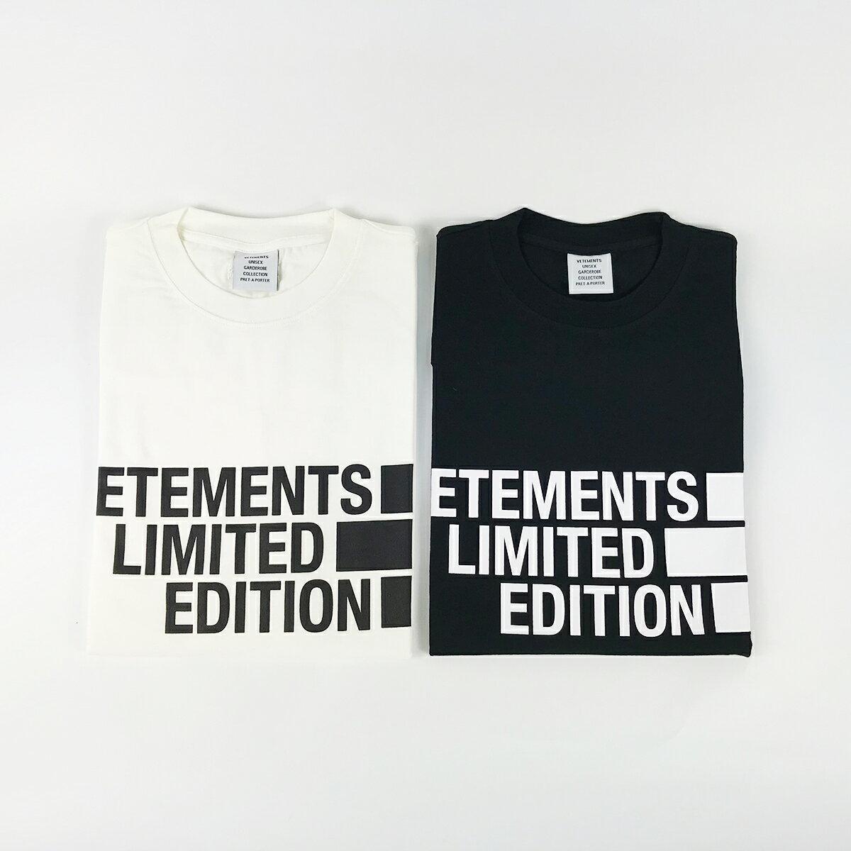 トップス, Tシャツ・カットソー VETEMENTS UE51TR810 WHITE BLACK T 55