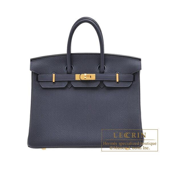 エルメス バーキン25 ブルーニュイ トゴ ゴールド金具 HERMES Birkin bag 25 Blue nuit Togo leather Gold hardware