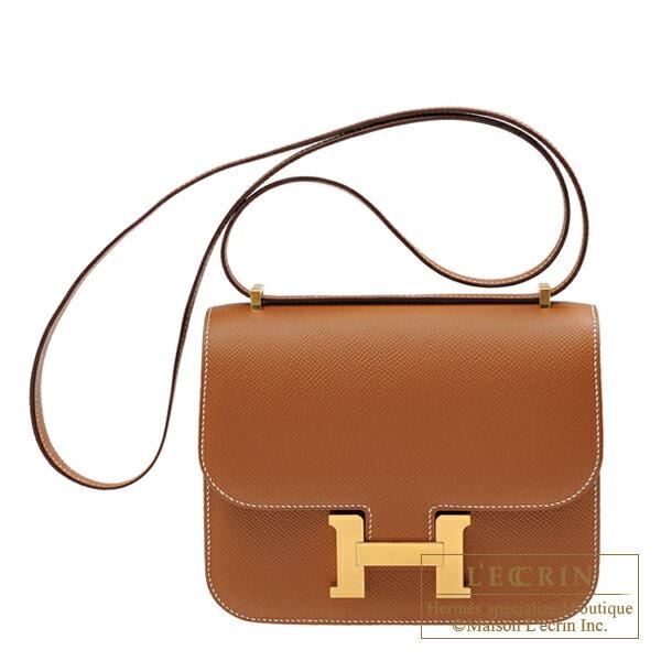 エルメス コンスタンスミニ ゴールド ヴォーエプソン ゴールド金具 HERMES Constance mini Gold Epsom leather Gold hardware