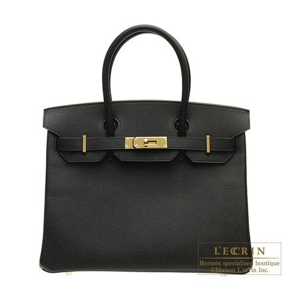 レディースバッグ, ハンドバッグ  30 HERMES Birkin bag 30 Black Epsom leather Gold hardware