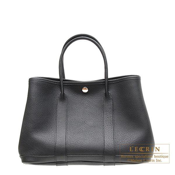 レディースバッグ, ハンドバッグ  TPM HERMES Garden Party bag TPM Black Negonda leather Silver hardware