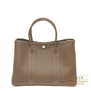 エルメス ガーデンパーティTPM エトゥープ ネゴンダ シルバー金具 HERMES Garden Party bag TPM Etoupe grey Negonda leather Silver hardware