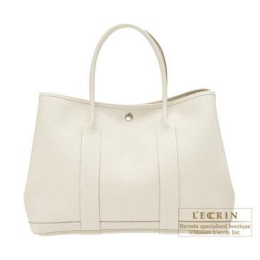 エルメス ガーデンパーティPM クレ カントリー シルバー金具 HERMES Garden Party bag PM Craie Country leather Silver hardware