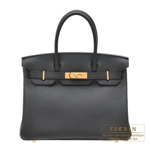 レディースバッグ, ハンドバッグ  30 HERMES Birkin bag 30 Black Togo leather Gold hardware