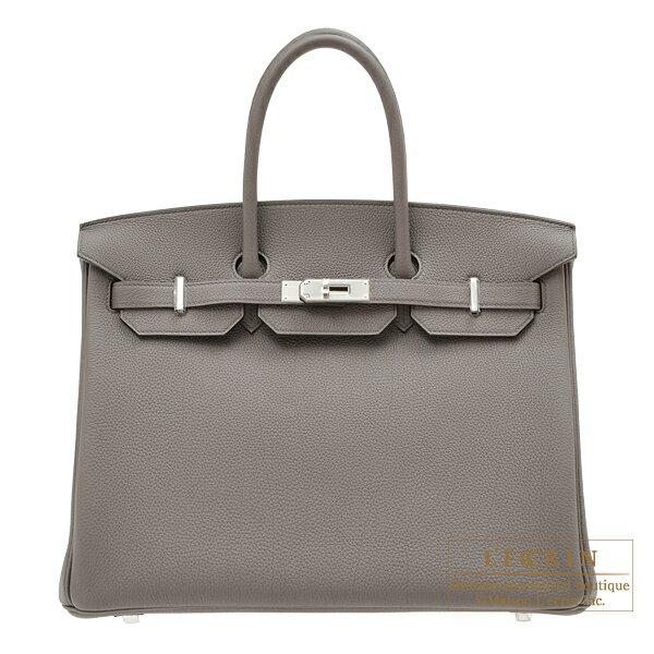 レディースバッグ, ハンドバッグ  35 HERMES Birkin bag 35 Etain Togo leather Silver hardware