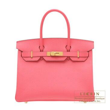エルメス パーソナルバーキン30 ローズアザレ ヴォーエプソン ゴールド金具 HERMES Personal Birkin bag 30 Rose azalee Epsom leather Gold hardware