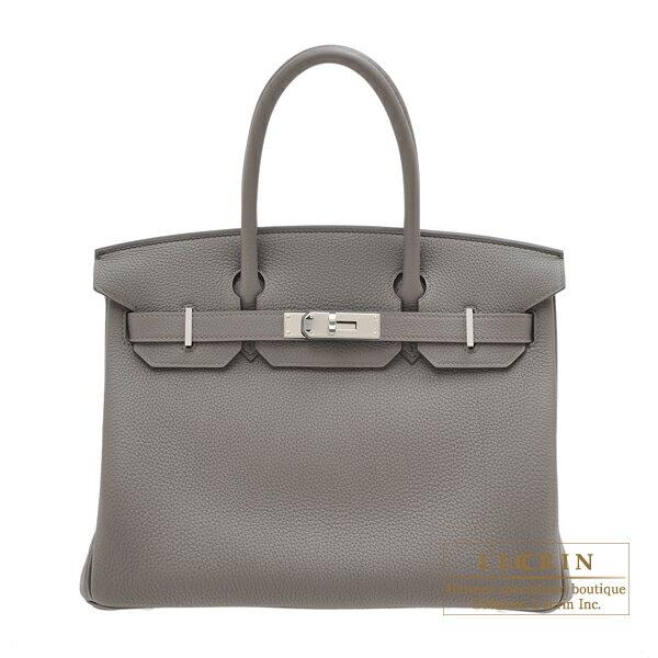 レディースバッグ, ハンドバッグ  30 HERMES Birkin bag 30 Etain Togo leather Silver hardware