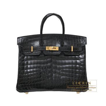 エルメス バーキン25 ブラック クロコダイル ニロティカス ゴールド金具 HERMES Birkin bag 25 Black Niloticus crocodile skin Gold hardware