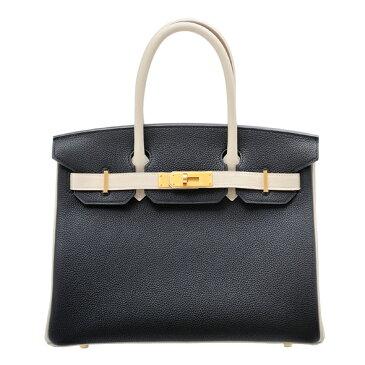 エルメス パーソナルバーキン30 ブラック/クレ トゴ マットゴールド金具 HERMES Personal Birkin bag 30 Black/Craie Togo leather Matt gold hardware