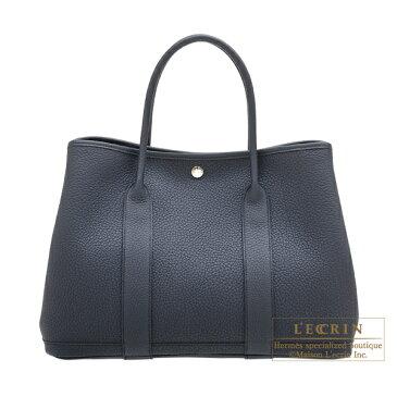 エルメス ガーデンパーティPM カマイユ ブルーインディゴ ネゴンダ シルバー金具 HERMES Garden Party bag PM Camails Blue indigo Negonda leather Silver hardware