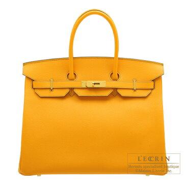 エルメス パーソナルバーキン35 ジョーヌドール ヴォーエプソン マットゴールド金具 HERMES Personal Birkin bag 35 Jaune d'or Epsom leather Matt gold hardware