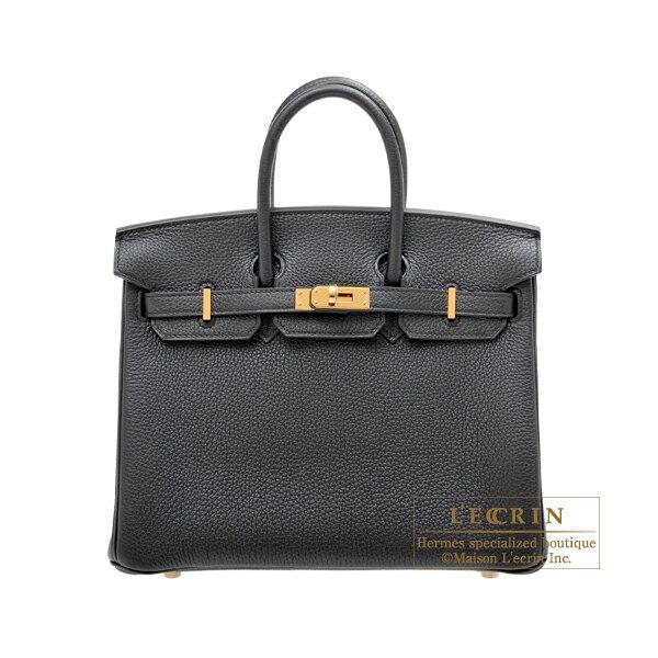 レディースバッグ, ハンドバッグ  25 HERMES Birkin bag 25 Black Togo leather Gold hardware