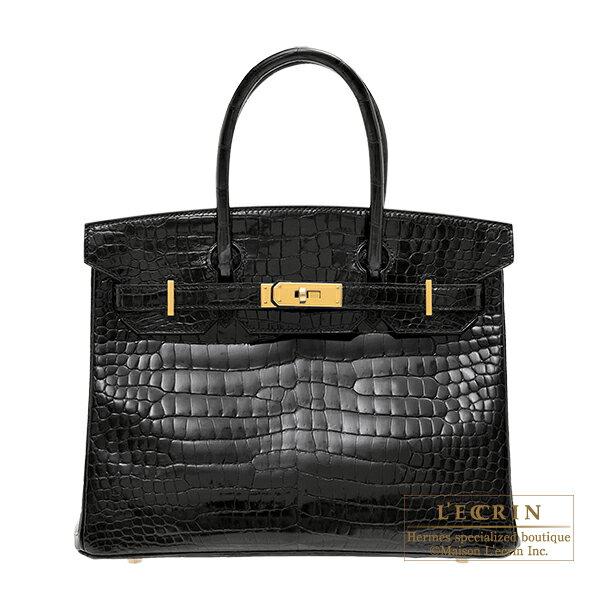 エルメス バーキン30 ブラック クロコダイル ポロサス ゴールド金具 HERMES Birkin bag 30 Black Porosus crocodile skin Gold hardware