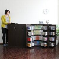 DVDラックDVD収納ラック2個組CDラックCD収納棚CD収納ラックおしゃれ大容量大量収納ディスプレイ棚収納ラックCDストッカーDVDストッカー日本製J-SupplyLtd.(ジェイサプライ)JS70D