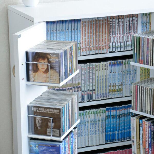 【ポイント10倍 令和元年×決算セール】 DVDラック DVD収納ラック 2個組 CDラック CD収納棚 CD収納ラック おしゃれ 大容量 大量収納 ディスプレイ 棚 収納 ラック CDストッカー DVDストッカー 日本製 J-Supply Ltd.(ジェイサプライ) JS70D