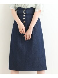 [Rakuten BRAND AVENUE]【SALE/70%OFF】ベルト付Iラインスカート MAJESTIC LEGON マジェスティックレゴン スカート【RBA_S】【RBA_E】