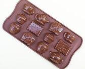 【シリコマート Silikomart】【チョコレート型】シリコンモールド・TEA TIME【シリコンゴム型】EASY CHOCO