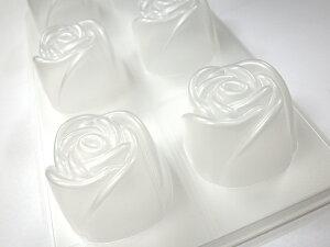 上品なバラの冷たいデザート専用のモールドです【冷やし型】ホワイトローズ 蓋付 ■寒天ゼリ...