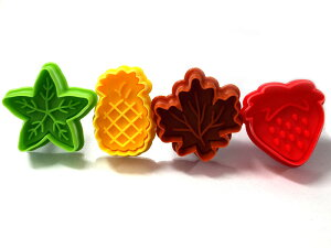 お手軽にかわいいクッキーが抜ける4種類のセットです。【silikoMart】ミニクッキーカッター フ...