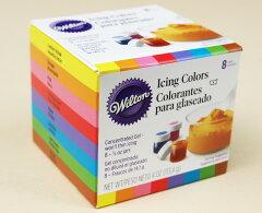 水溶性色素のため扱いが簡単です【SALE対象品】【Wilton】ウィルトン アイシングカラー ■8カラ...