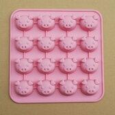 【チョコレート型】チョコレートモールド・こぶたピンク【シリコンゴム型】SIG-52