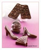 【シリコマート Silikomart】【チョコレート型】シリコンモールド・FASHION【シリコンゴム型】EASY CHOCO