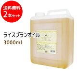 送料無料 ライスブランオイル3000ml×2本セット (米油 米ぬか油 ライスオイル/コック付) 国内産 国内精製 天然100%植物性 ボタニカルオイル 大容量・業務用