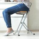 料理の最中にちょい掛けチェア 好きな高さで 使わない時は折りたたんで収納 高さ調節可能 キッチン 椅子 チェア 台所 完成品 日本製 コンパクト 省スペース