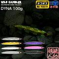 [WILDGAMBLER(ワイルドギャンブラー)]DYNA(ダイナ)ジグ100g(110mm)蓄光カラー[シルバーゼブラ/ゴールドゼブラG/ピンクエッジG/パープルエッジG/オールグロー]センターバランスメタルジグ