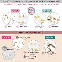 【変更パーツ】金属アレルギー対応ステンレスピアスイヤリングフックピアス