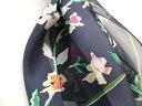 スカーフ ロングスカーフ シルク 花柄 ストリームフラワー レディース 秋冬 日本製 28×128cm 横浜スカーフ 2