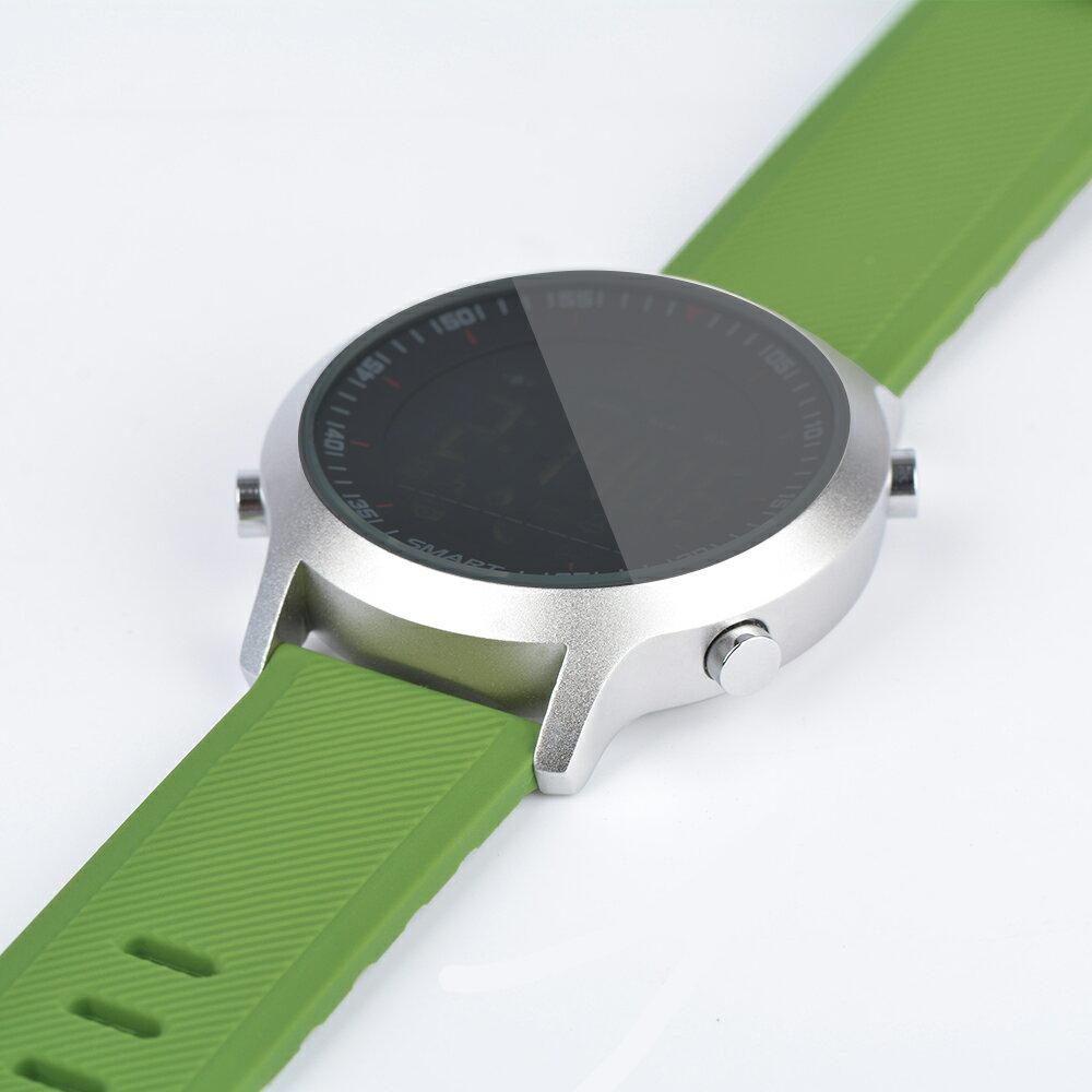スマートウォッチ/運動ウォッチ  Bluetooth、歩数計、距離、カロリー消耗、生活防水、遠隔カメラコントロール撮影 Android&IOS対応 EX18-Green