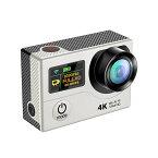 4K WIFI スポーツ カメラ HD 1200万画素 170度超広角2インチ LCD 20M 1対多い リモコン GoproH3R_white
