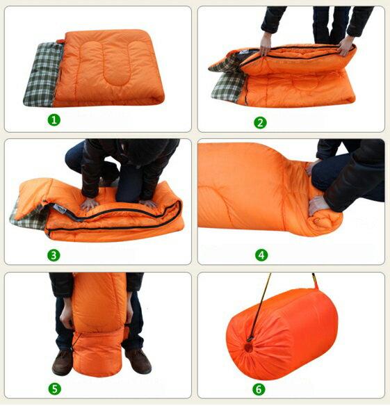 送料税込み!KEUMERアウトドア寝袋/ スリーピングバッグ/ 封筒型/コンパクト/軽量/最低使用温度0℃春秋冬キャンプシュラフSleepingbag_Orange