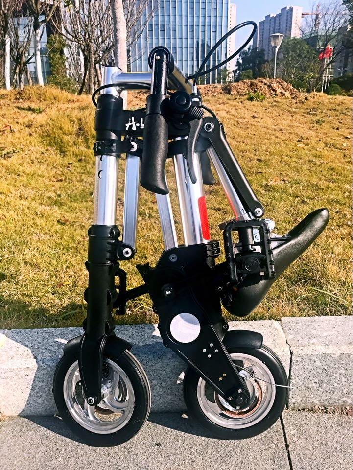 Bicycle  A型bike  折りたたみ自転車 チューブレス仕様  スポーツ アウトドア 駅通い ピクニック 遠足 収納袋付き タイヤの空気入れ不要 超軽量 超小型 8ABike-Sliver