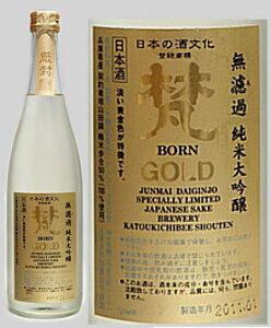 熟成味が魅力のゴールドに一升瓶登場!旨みが詰まった無ろ過純米大吟醸 梵 ゴールド(GOLD)(...