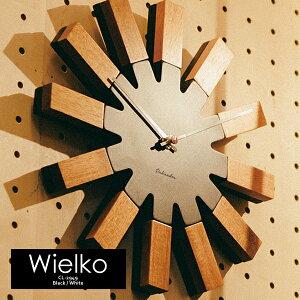 壁掛け時計 Wielko ヴィエルコ CL-2949 電池付き 掛け時計 インターフォルム INTERFORM 北欧 モダン シンプル ナチュラル 木目 おしゃれ