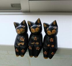 アジアンバリ雑貨ネコ猫置物