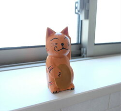 アジアンバリ雑貨バリネコ福を呼ぶネコ猫置物インテリア