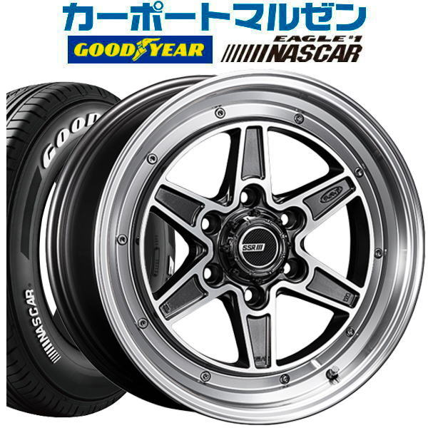 タイヤ・ホイール, サマータイヤ・ホイールセット SSR MK-6 16inch 6.5J6139mm 38GY NASCAR21565R16