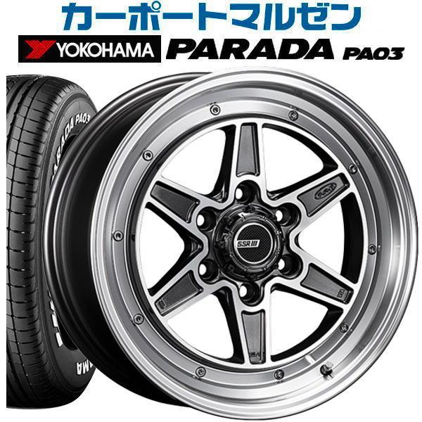 タイヤ・ホイール, サマータイヤ・ホイールセット SSR MK-6 16inch 6.5J6139mm 38YOKOHAMA PARADA () PA0321565R16