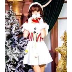 サンタコスプレクリスマストナカイコスチューム衣装セクシーファー付き定番サンタコスプレ赤大人サンタコスコスプレ衣装クリスマスサンタクロースTNK45005