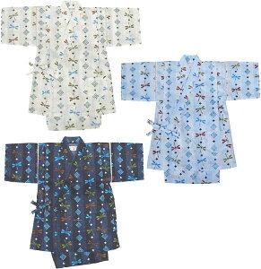 6ae06db510670 子供 甚平 縞とんぼ柄超清涼素材 甚平スーツ(120cm~130cm) 子ども
